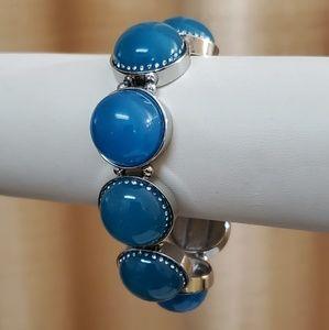 LOFT Blue Bauble Stretch Bracelet #726